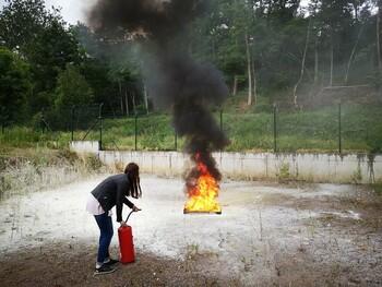 Unterweisung Brandschutz // Feuerlöschübung 2021