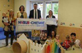 NABU Spende für die neue Kinderkrippe in Stulln
